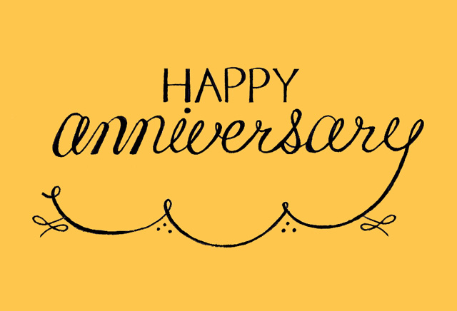happy anniversary lettering by janna barrett