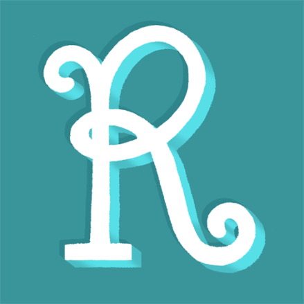 """R"" drop cap by Janna Barrett, for 36 Days of Type"