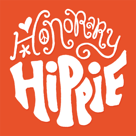 Honorary Hippie lettering by Janna Barrett